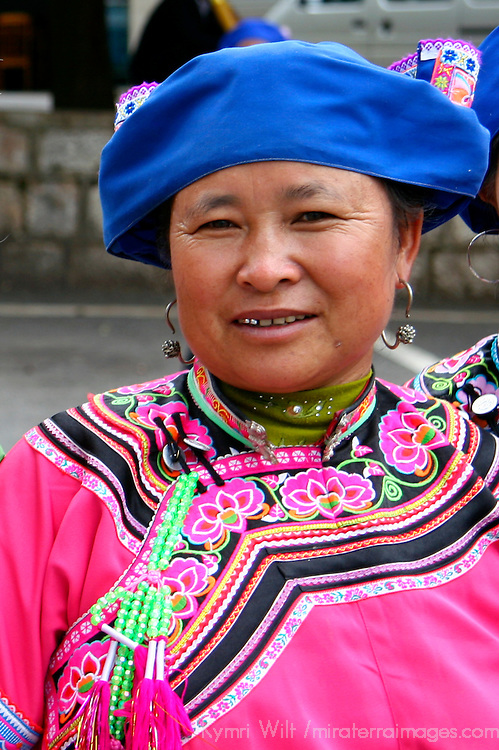 Asia, China, Kunming. Portrait of a  Dong woman, one of the many ethnic minority peoples of southern China.