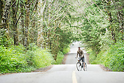 Biking in Tofino, British Columbia. A surf town in Western Canada
