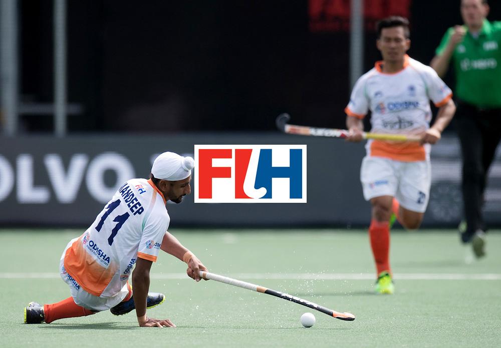 BREDA - Rabobank Hockey Champions Trophy<br /> India - Argentina<br /> Photo: Mandeep Singh.<br /> COPYRIGHT WORLDSPORTPICS FRANK UIJLENBROEK