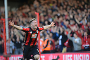 AFC Bournemouth's midfielder Matt Ritchie celebrates his goal during the Barclays Premier League match between Bournemouth and Tottenham Hotspur at the Goldsands Stadium, Bournemouth, England on 25 October 2015. Photo by Mark Davies.