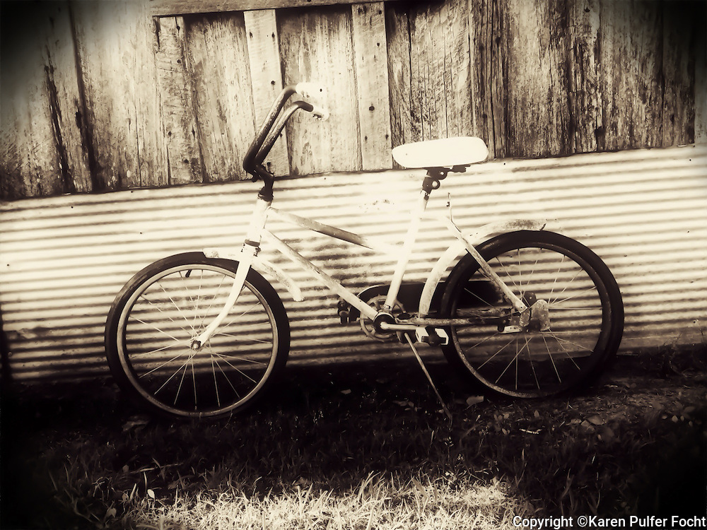Bike in Clarksdale, Mississippi. Property release