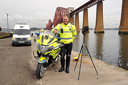 Inspector Ian Paul with the camera and Bike<br /> <br /> (c) David Wardle | Edinburgh Elite media