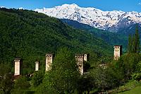 Georgie, Svanetie, la Haute Svanetie, village de Lahili, patrimoine mondial de l'UNESCO // Georgia, Svaneti, Laili village, UNESCO world heritage