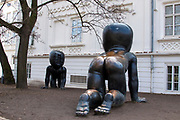 Babies statue by David Cerny at the Kampa Museum, Prague, Czech Republic