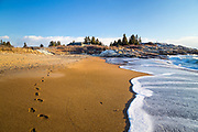 The golden sand at Reid State Park along with the rocky headlands and exposure to the elements of the open ocean make it one of the most beautiful places in Maine.
