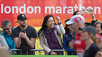 Supporters cheer on the runners. The Virgin Money London Marathon, 23rd April 2017.<br /> <br /> Photo: Ben Queenborough for Virgin Money London Marathon<br /> <br /> For further information: media@londonmarathonevents.co.uk