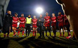 Bristol Rugby Head Coach Pat Lam gives a team talk at full time after the win at Doncaster Knights - Mandatory by-line: Robbie Stephenson/JMP - 02/12/2017 - RUGBY - Castle Park - Doncaster, England - Doncaster Knights v Bristol Rugby - Greene King IPA Championship