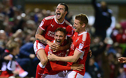 Matthew Taylor of Swindon Town celebrates . - Mandatory by-line: Alex James/JMP - 22/09/2017 - FOOTBALL - New Lawn Stadium - Nailsworth, England - Forest Green Rovers v Swindon Town - Sky Bet League Two