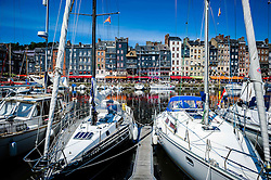 The harbour in Honfleur, Normandy, France in Summer