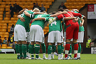 Team huddle before the pre season friendly at Carrow Road Stadium, Norwich...Picture by Paul Chesterton/Focus Images Ltd.  07904 640267.6/8/11