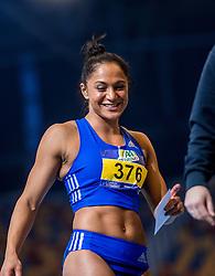 11-02-2017 NED: AA Drink NK Indoor, Apeldoorn<br /> Naomi Sedney pakt het goud op de 60 meter