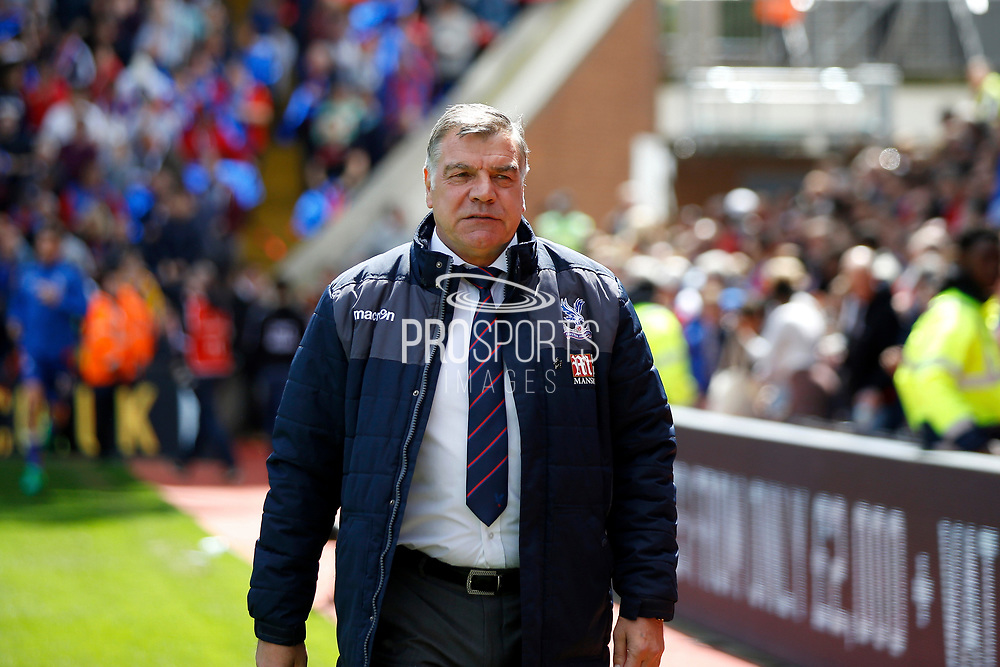Crystal Palace manager Sam Allardyce during the Premier League match between Crystal Palace and Hull City at Selhurst Park, London, England on 14 May 2017. Photo by Andy Walter.