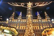 Christmas market at Vienna city hall, Austria, Vienna, 1. district, city hall