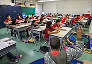 Fifth grade ESL students continue studies in advance of transferring to Sherman Elementary School at Crawford Elementary School, November 21, 2013.