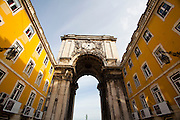 Lisboa, Portugal...Arco da rua Augusta na Praca do Comercio em Lisboa, Portugal...Augusta Street Arch in Comercio square located in the city of Lisbon, Portugal...Foto: JOAO MARCOS ROSA / NITRO