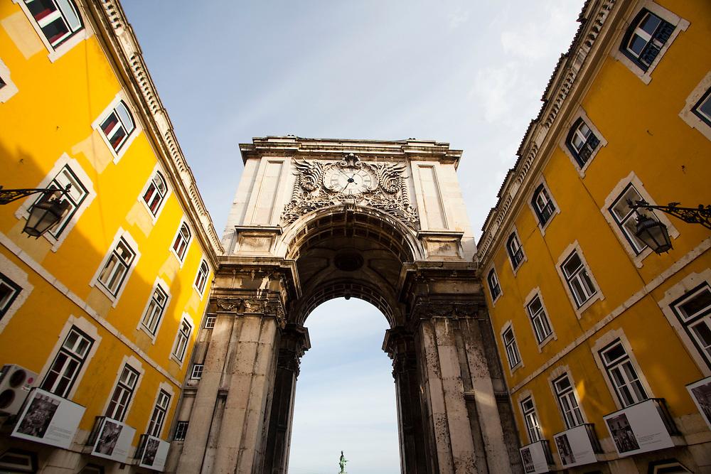 Lisboa, Portugal...Arco da rua Augusta na Praca do Comercio em Lisboa, Portugal...Augusta Street Arch in Comercio square located in the city of Lisbon, Portugal...Foto: JOAO MARCOS ROSA / NITRO