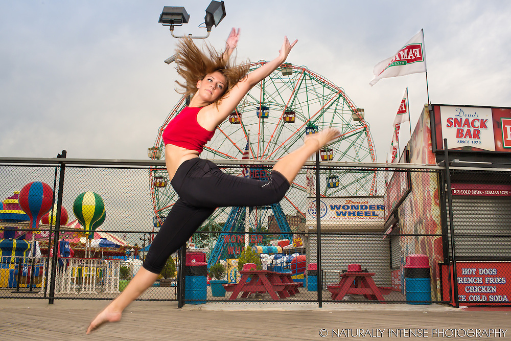 Coney Island Boardwalk. Dance As Art- The New York Photography Project featuring Brianna Figueroa