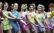 Cast of 42nd Street preform at the  Theatre Royal