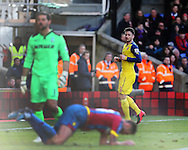 Arsenal's Olivier Giroud celebrates scoring his sides second goal<br /> <br /> Barclays Premier League - Crystal Palace  vs Arsenal  - Selhurst Park - England - 21st February 2015 - Picture David Klein/Sportimage