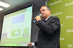 Manoel Carnaúba, vice-presidente da unidade de Insumos básicos durante coletiva de imprensa para a Inauguração da planta de eteno verde da Braskem, no pólo petroquimico, em Triunfo, no RS. FOTO: Jefferson Bernardes/Preview.com