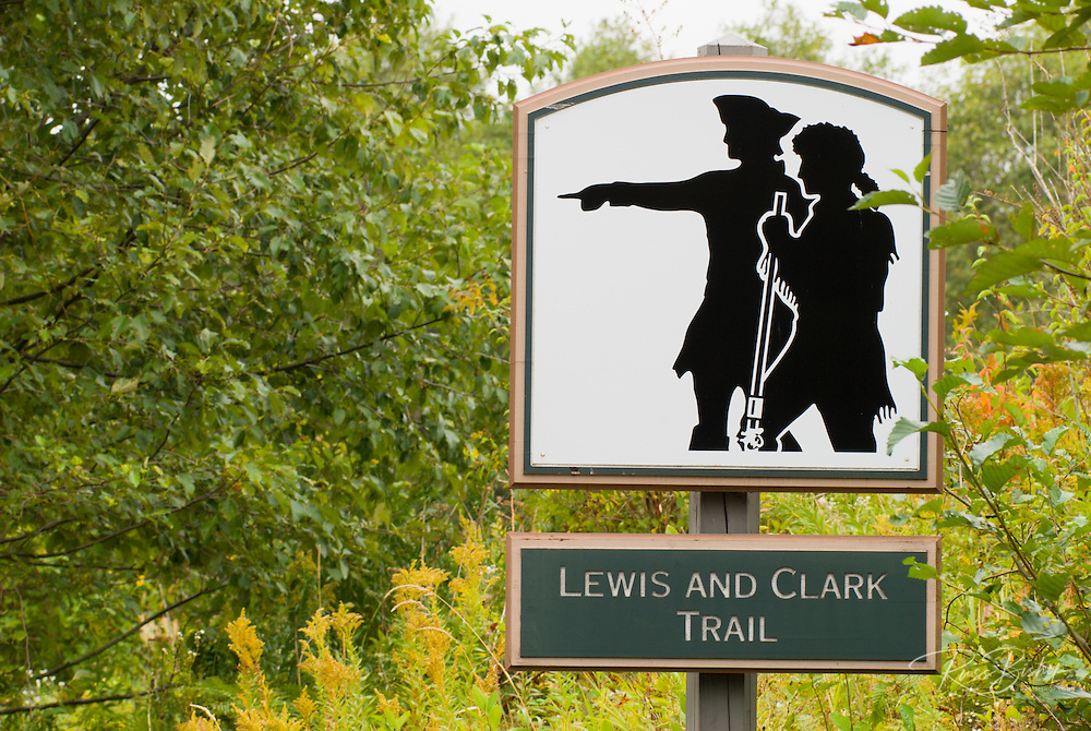 Lewis and Clark Trail marker, Columbia River Gorge, Washington