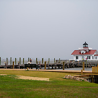 The Roanoke Marshes lighthouse is often one of the most overlooked of the Outer Banks lighthouses, simply because of its small stature, limited visibility and remote location tucked away at the quiet east end of the Manteo waterfront. Lighthouse is located in the Manteo section of the Outer Banks, North Carolina, USA