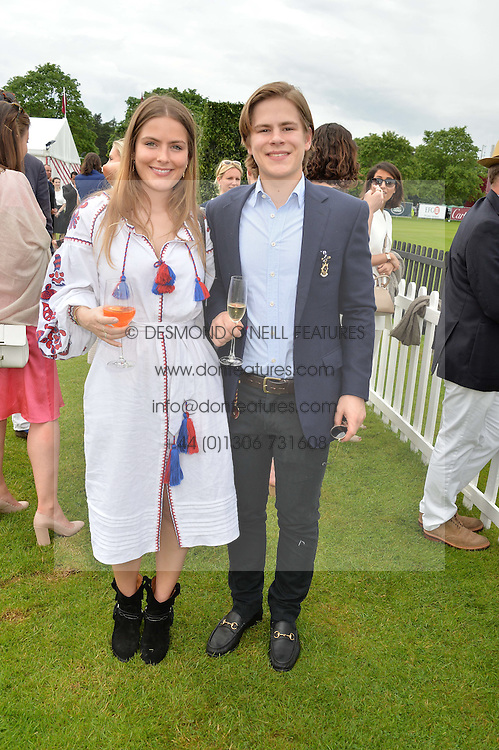 The HON.PHILIPPA CADOGAN and the HON.CHARLIE CADOGAN at the Cartier Queen's Cup Final 2016 held at Guards Polo Club, Smiths Lawn, Windsor Great Park, Egham, Surry on 11th June 2016.