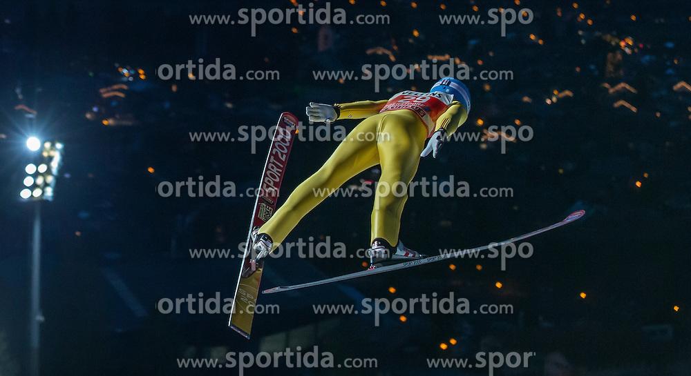 28.12.2015, Schattenbergschanze, Oberstdorf, GER, FIS Weltcup Ski Sprung, Vierschanzentournee, Training, im Bild Ilmir Hazetdinov (RUS) // Ilmir Hazetdinov of Russian Federation// during his Practice Jump for the Four Hills Tournament of FIS Ski Jumping World Cup at the Schattenbergschanze, Oberstdorf, Germany on 2015/12/28. EXPA Pictures © 2015, PhotoCredit: EXPA/ Peter Rinderer