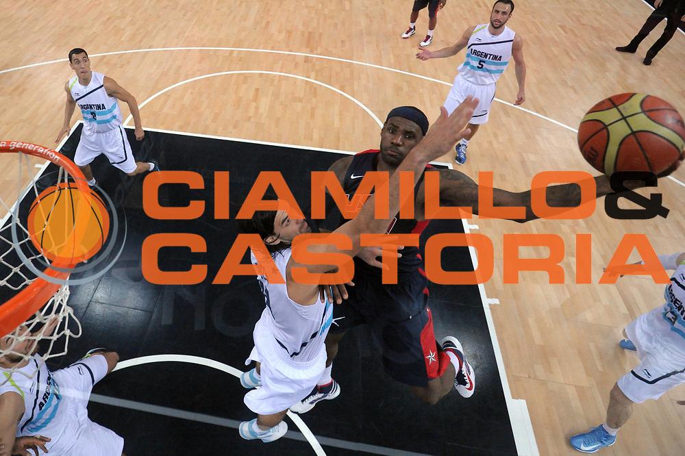 DESCRIZIONE : London Londra Olympic Games Olimpiadi 2012 Men Semifinal Argentina USA<br /> GIOCATORE : Lebron James<br /> CATEGORIA :<br /> SQUADRA : USA<br /> EVENTO : Olympic Games Olimpiadi 2012<br /> GARA : Argentina USA<br /> DATA : 10/08/2012<br /> SPORT : Pallacanestro <br /> AUTORE : Agenzia Ciamillo-Castoria/M.Marchi<br /> Galleria : London Londra Olympic Games Olimpiadi 2012 <br /> Fotonotizia : London Londra Olympic Games Olimpiadi 2012 Men Semifinal Argentina USA<br /> Predefinita :