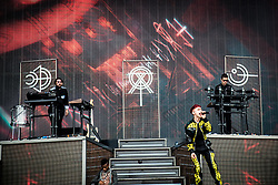 June 17, 2018 - Landgraaf, Limburg, Netherlands - Years & Years performing live at Pinkpop Festival 2018 in Landgraaf, Netherlands, on 17 June 2018. (Credit Image: © Roberto Finizio/NurPhoto via ZUMA Press)