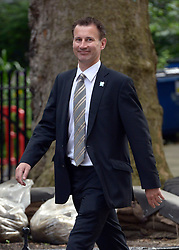 © Licensed to London News Pictures. 10/07/2012. Westminster, UK. Culture Secretary, Jeremy Hunt.  Politicians in Downing Street today 10th July 2012. Photo credit : Stephen Simpson/LNP