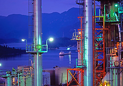Oil Refinery, Night