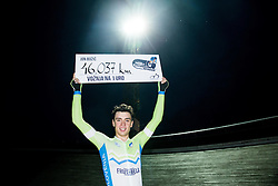 Jon Bozic of Slovenia and Adria Mobil Team after his Personal record 46,037 km but unseccessful attempt to set New Slovenia One Hour Cycling Record at Cesca vas Velodrome on June 1, 2016 in Novo mesto, Slovenia. Photo by Vid Ponikvar / Sportida