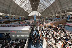 © Licensed to London News Pictures. 12/04/2016.  Boom publisher trade stands at  The London Book Fair. London, UK. Photo credit: Ray Tang/LNP