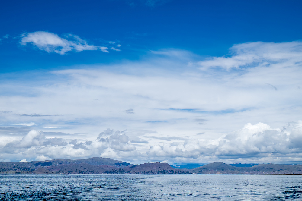 View of lake Titicaca in Peru.