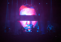 © Licensed to London News Pictures. 03/09/2016. Bristol, UK. MASSIVE ATTACK play on the main stage at the Massive Attack music event on Bristol Downs. Photo credit : Simon Chapman/LNP