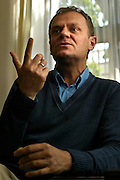 Donald Tusk polish prime minister in his party parliament club photo Piotr Gesicki