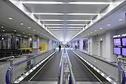 walking band escalator at a Narita airport international terminal