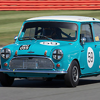 #59, Austin Mini Cooper S (1965), Robert Beebee(GB) and Josh Beebee (GB), Silverstone Classic 2015, Warwick Banks Trophy for Under 2 Litre Touring Cars (U2TC). 25.07.2015. Silverstone, England, U.K.  Silverstone Classic 2015.