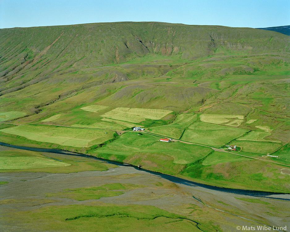 Borg séð til vesturs, Fljótsdalshérað áður Skriðdalshreppur / Borg viewing west, Fljotsdalsherad former Skriddalshreppur.