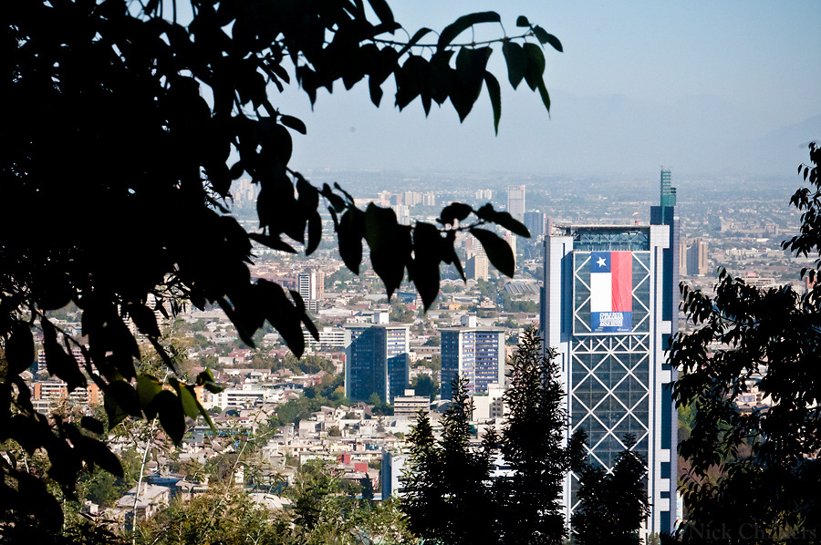 Santiago, Chile 2010<br /> <br /> San Cristobal hill two weeks after the 7.7 earthquake that struck just outside the capital of Santiago.