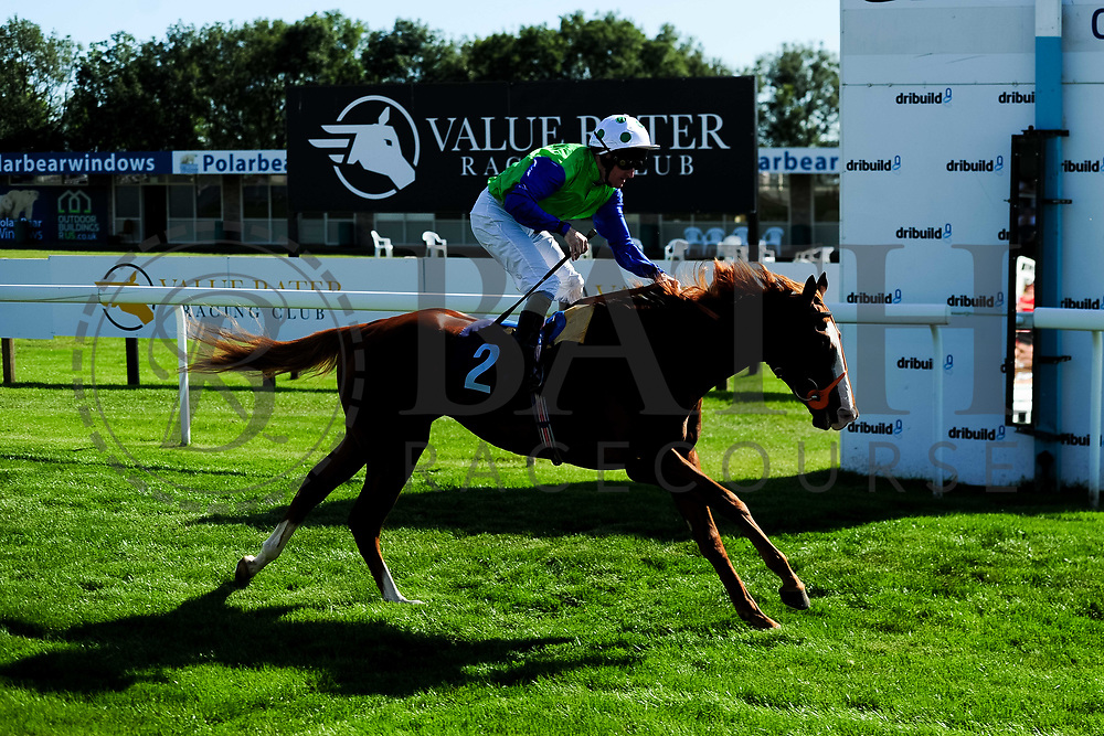 Top Buck ridden by Liam Keniry and trained by Brian Meehan in the Sds Symbiotic Nursery Handicap race.  - Ryan Hiscott/JMP - 14/09/2019 - PR - Bath Racecourse - Bath, England - Race Meeting at Bath Racecourse