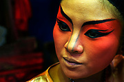 Teochew Opera Sing Tong. a travelling Chinese Opera troupe, prepare to perform in Thonburi.