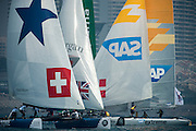 Race day one of the Land Rover Extreme Sailing Series regatta in Qingdao, China. 1/5/2014