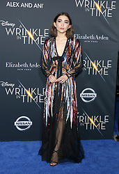 Rowan Blanchard at the Los Angeles premiere of 'A Wrinkle In Time' held at the El Capitan Theater in Hollywood, USA on February 26, 2018.