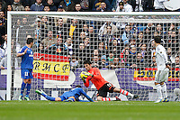 27.01.2013 SPAIN -  La Liga 12/13 Matchday 21th  match played between Real Madrid CF vs Getafe C.F. (4-0) at Santiago Bernabeu stadium. The picture show Antonio Adan Garrido (Spanish goalkeeper Real Madrid)