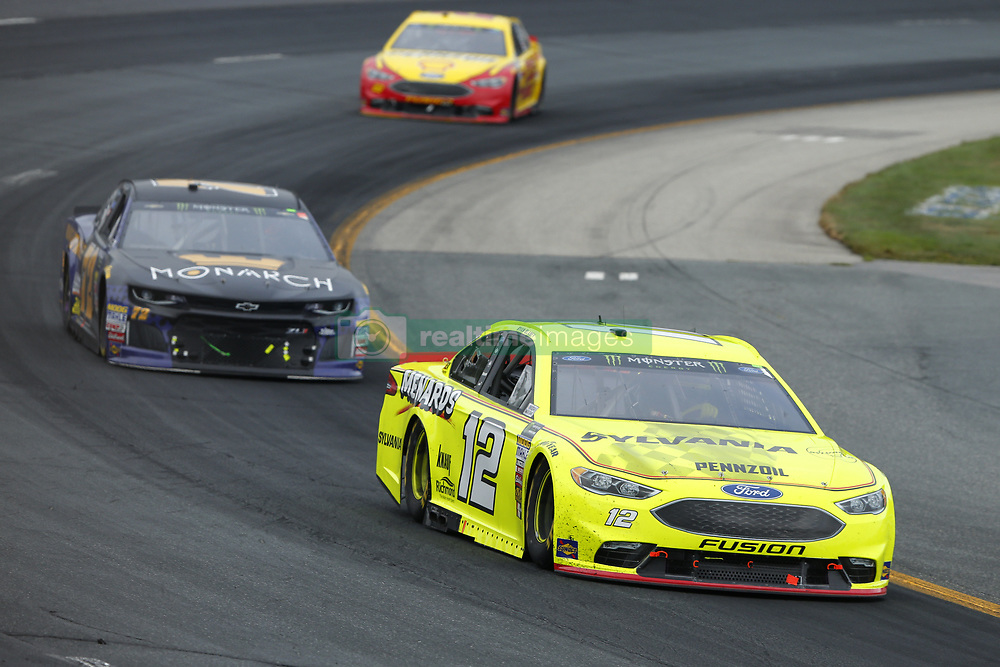 July 22, 2018 - Loudon, New Hampshire, United States of America - Ryan Blaney (12) brings his car through the turns during the Foxwoods Resort Casino 301 at New Hampshire Motor Speedway in Loudon, New Hampshire. (Credit Image: © Chris Owens Asp Inc/ASP via ZUMA Wire)
