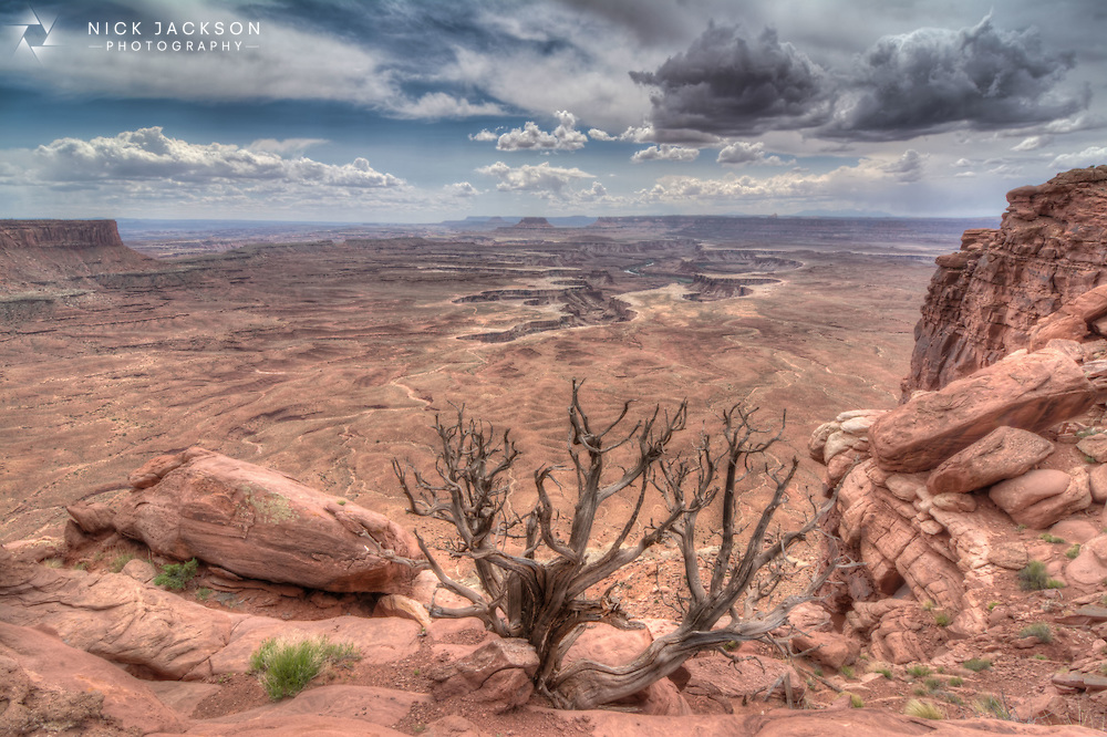 From the prominence of Dead Horse Point, 2,000 feet above a gooseneck in the Colorado River, an ever changing landscape unfurls. Immense vertical cliffs meet with canyons carved by ice, water and wind creating a visual masterpiece. <br />