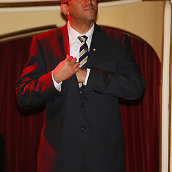 EASTBOURNE, ENGLAND - SEPTEMBER 13: SA rugby boss Oregan Hoskins  President of South African Rugby during the 2015 Rugby Wolrd Cup Springboks Welcome function at Eastbourne Winter Gardens on September 13, 2015 in Eastbourne, England. (Photo by Steve Haag Emirates)