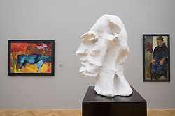 Sculpture bust by Carl Lohse &quot; Ludwig Renn&quot; at Albertinum<br /> art museum in Dresden, Germany